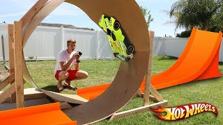 GIANT Backyard RC Hotwheels Track w/ LOOP