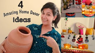 4 Amazing Home Decor Ideas using old Matka (Clay Pot)|| how to recycle waste pot