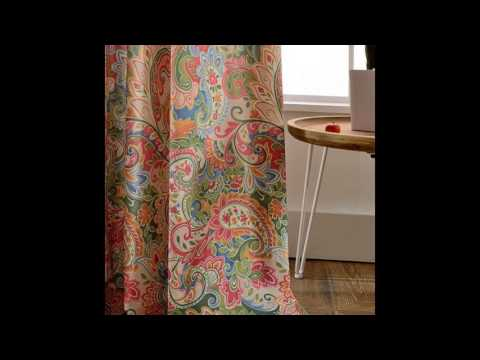 Beautiful Colorful Paisley Curtains