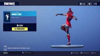 Fortnite: Battle Royale - New Emote - Work It Out (Valor Skin) (Bugged)