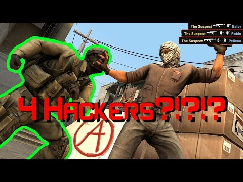 CSGO Overwatch: 4 HACKERS IN ONE GAME!?!?!?!