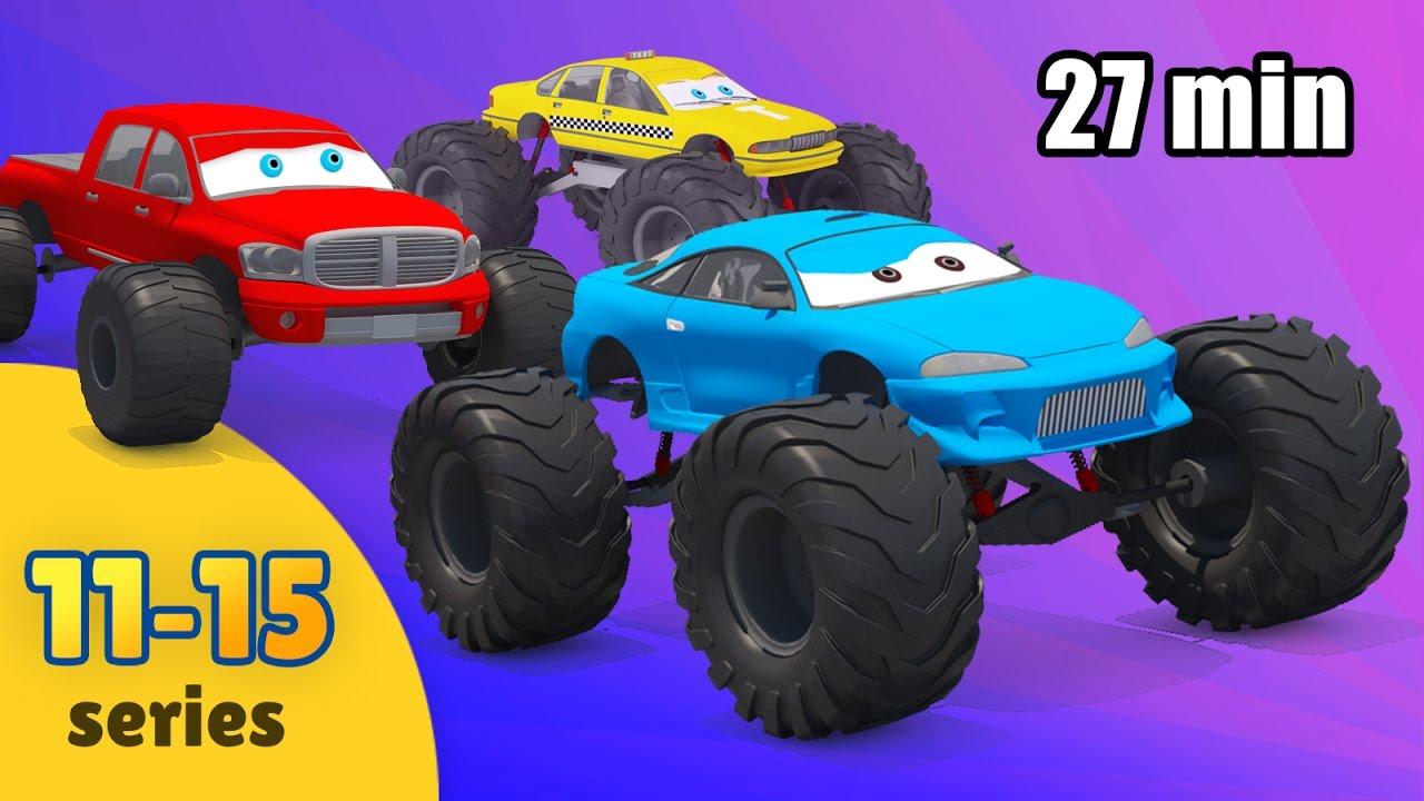 1b72cea8 Monster Truck for Children | Cartoon Compilation | Monster Truck Kids Video  | Compilation for Kids