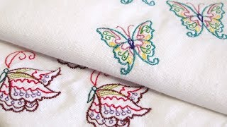 How to Machine Embroider Tea Towels Using Embrilliance Software
