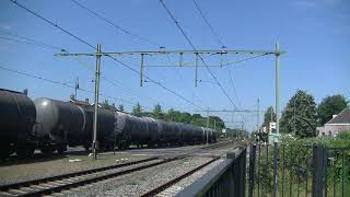 DBC 189 054-0 met Keteltrein langs Gilze Rijen.