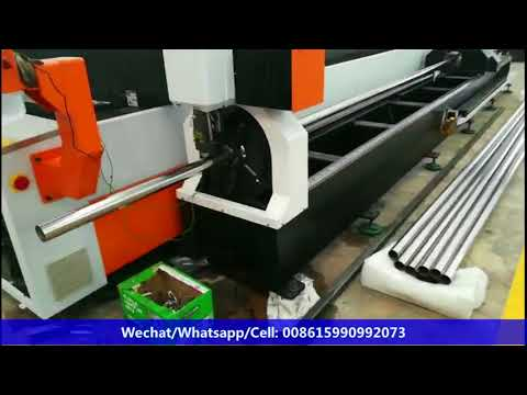 metal plate-pipe fiber laser cutting machine working in Malaysia