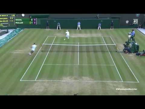 Best rally of Rafel Nadal | Nadal vs Muller | Wimbledon 2017