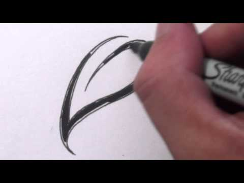 how-to-draw-a-simple-leaf---tribal-tattoo-design-style