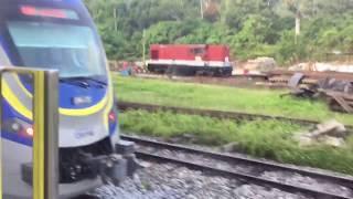 2020.2.23(日)7:44 マレー鉄道の新型ディーゼルカーClass 61 DMU005【東海岸線Mentakab駅】