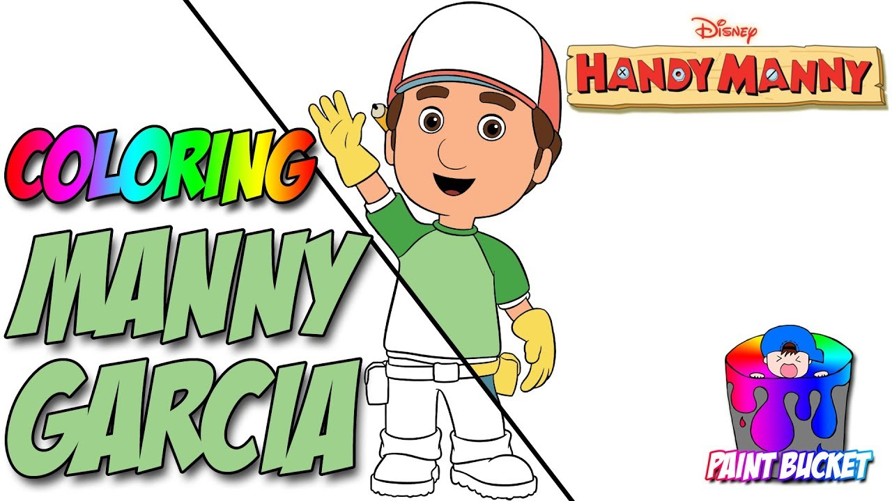 How To Color Handy Manny Coloring Pages
