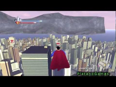 Superman Returns - Epic Flying Gameplay - Man Of Steel Takes Flight Through Metropolis - HD