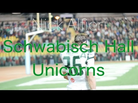 Nick Alfieri Schwabisch Hall Unicorns 2016 Highlights