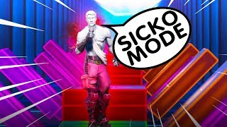 Fortnite SICKO MODE with Creative Music Blocks FULL SONG