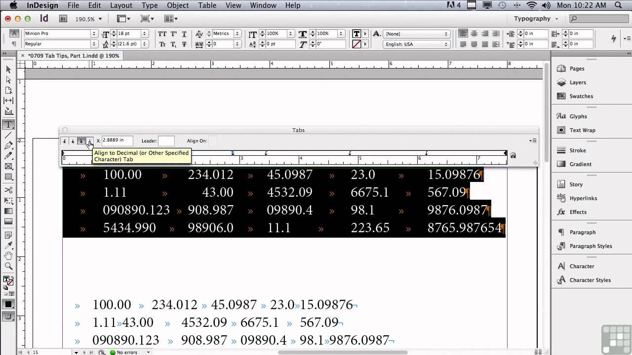 Adobe InDesign CS6 Tutorials | Tab Tips pt1 | InfiniteSkills