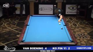 CSI Presents The Kamui Challenge: Shane Van Boening vs Ko Pin Yi Pt.1