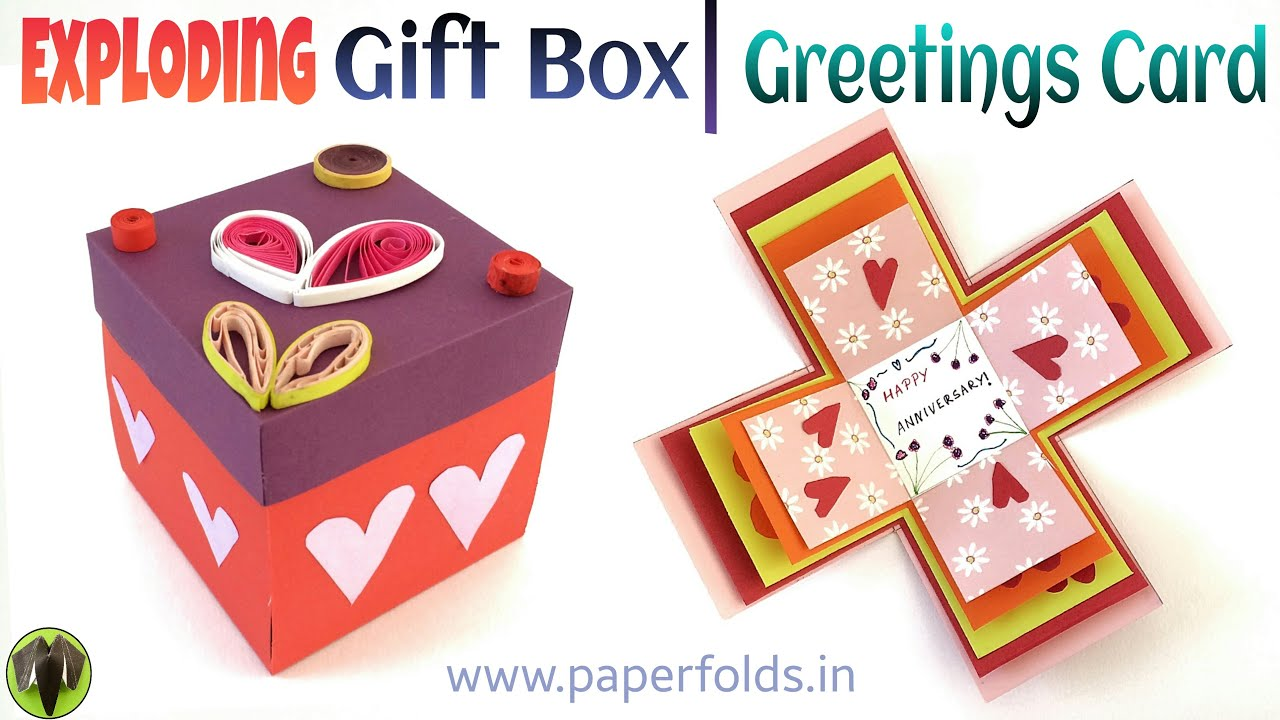 Explosion surprise gift box greetings card diy tutorial by paper explosion surprise gift box greetings card diy tutorial by paper folds youtube m4hsunfo