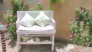 Como Fazer Banco de Jardim Usando Porta Velha
