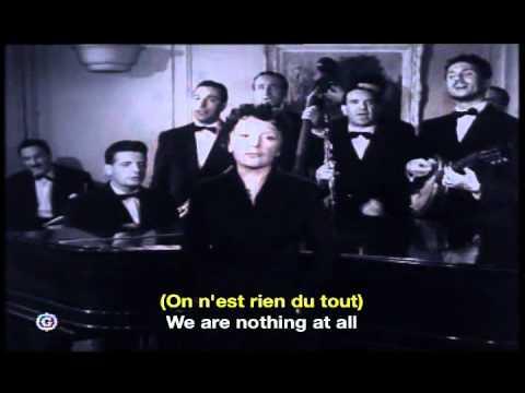 Edith Piaf La Goualante du Pauvre Jean French & English Subtitles