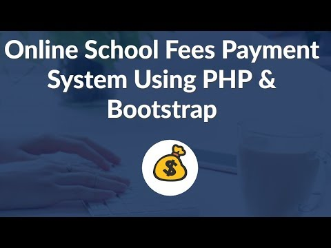 Online Student Payment System Using PHP & Bootstrap