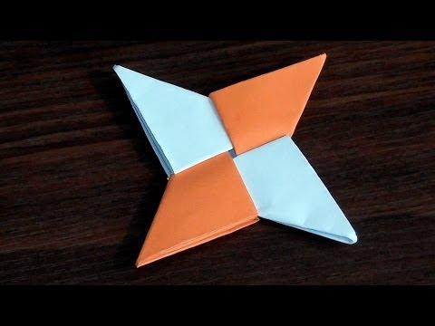 Звездочка ниндзя своими руками из бумаги видео урок по модульному оригами (мк) для начинающих