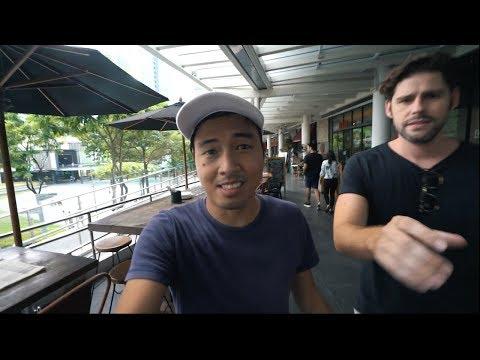Filipino takes my camera in BGC - Bonifacio Global City in Manila