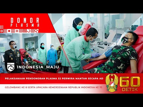 Pelaksanaan Pendonoran Plasma Darah Gelombang ke-8 Perwira Mantan Secapa AD
