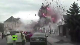 Captan una mortal explosión de gas en EE.UU.