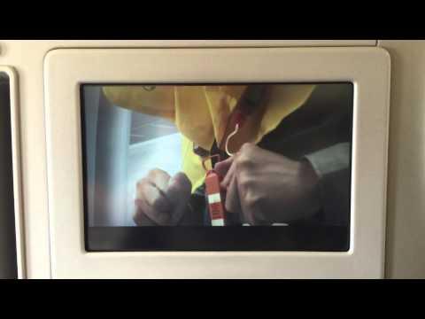 Garuda Indonesia A330-300 In Flight Safety Video