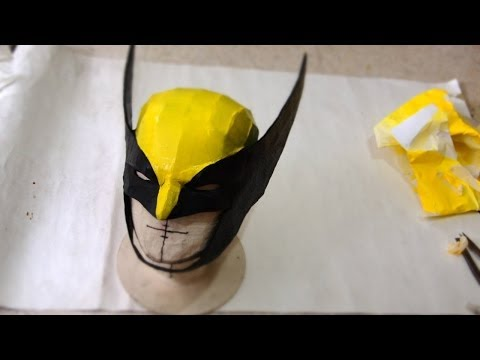 60 magneto dofp helmet diy part 1 cardboard temp for Cyclops mask template