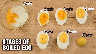How To Cook Perḟect Hard Boiled Eggs - Stages of Boiled Egg - Basic Cooking - Varun