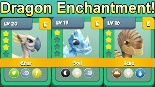ENCHANTING a BUNCH of Dragons + Enchantment League Fights! - Dragon Mania Legends #396