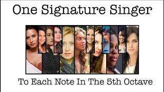 One Signature Singer to Each Note in the 5th Octave
