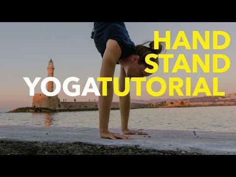 Yoga Tutorial. HANDSTAND OR ADHO MUKHA VRKSASANA