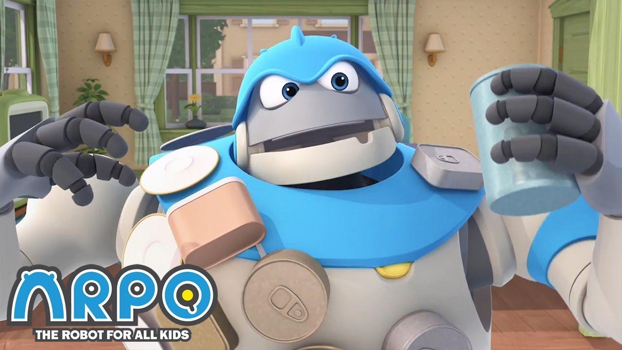 MAGNETIC Arpo! - ARPO the Robot | 에피소드를보고 | Cartoons for Kids | Robot Animation