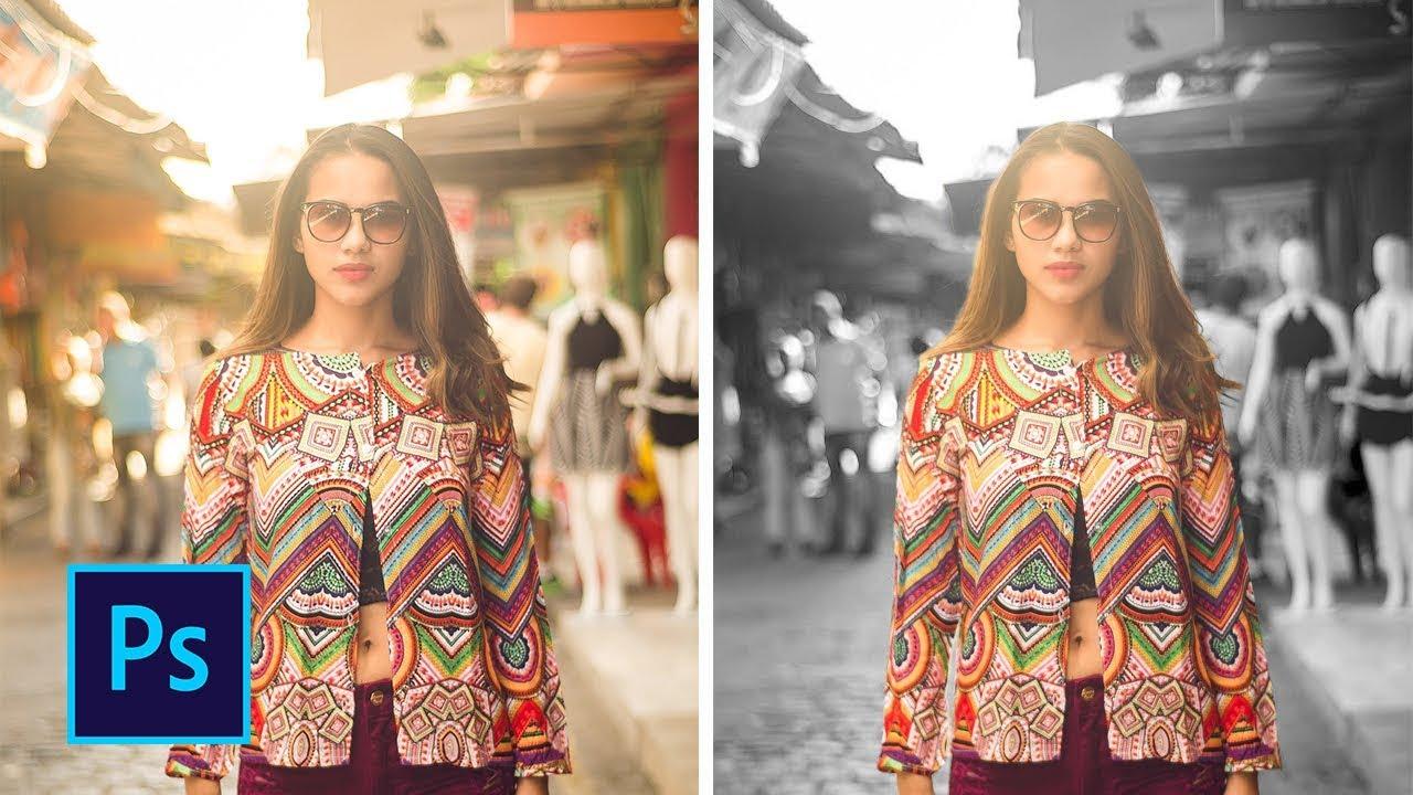 Как сделать чёрно белое фото с цветным объектом в фотошопе ...