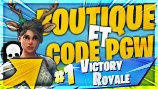 (FORTNITE ) LIVE COUCOURS CODE PGW [PS4 FR]