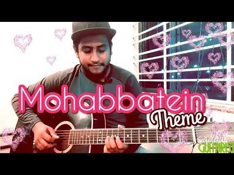 Mohabbatein Theme Tune | Easy Guitar Cover Lesson For Beginners In Hindi