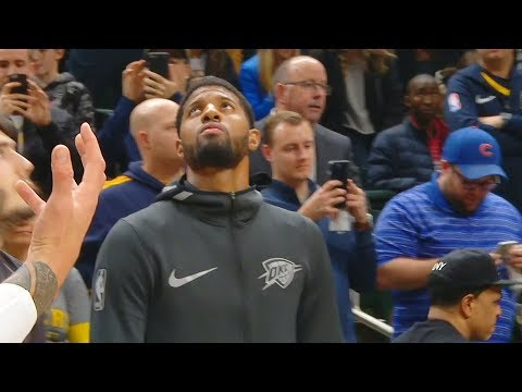 Paul George Booed In Return to Indiana Pacers With Thunder - Oklahoma City Thunder vs Indiana Pacers