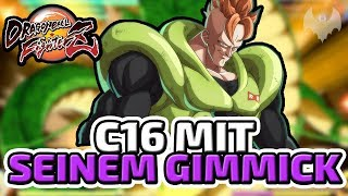 C16 mit seinem Gimmick - ♠ Dragon Ball FighterZ Beta ♠ - Deutsch German - Dhalucard