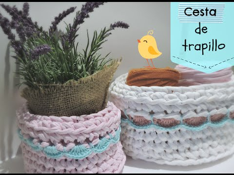 C mo hacer una cesta de trapillo con borde how to make - Hacer cestas de trapillo ...