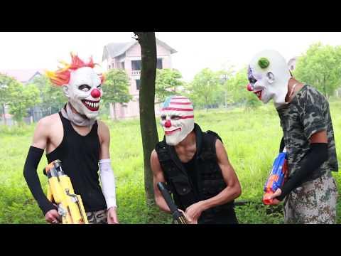 MASK Nerf War : Special Warrior Nerf Guns Fight Criminal Group Mask