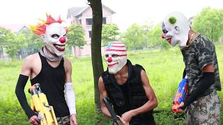 MASK Nerf War : Special Warrior Nerf Guns Fight Criminal group Mask
