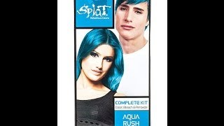 How to Dye Your Hair Using Splat Hair Dye - Aqua Rush