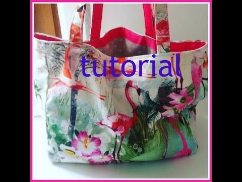 Summer bag tutorial youtube for Tutorial fermaporta di stoffa