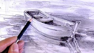ganz einfach zeichnen lernen 11: Boot im Wasser