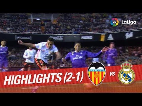 Resumen de Valencia CF vs Real Madrid (2-1)