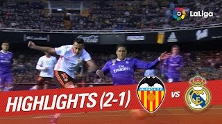 Resumen de Valencia CF vs Real Madrid (2-1)