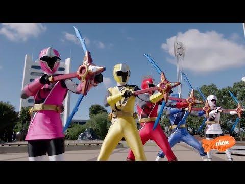 Power Rangers Super Ninja Steel - Power Rangers vs Wolvermean and Foxbots | Episode 6