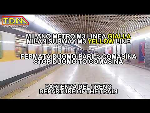 METROPOLITANA MILANO M3 APERTURA INTERRUTTORI DI LINEA   MILAN SUBWAY OPEN POWER SWITCH