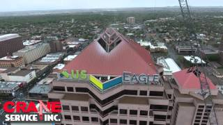U.S. Eagle Federal Credit Union Sign - Crane Rental Albuquerque - Grove GMK7550