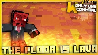 Minecraft - THE FLOOR IS LAVA Game With Only One Command Block!